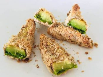 AVOCADO FRIES WITH A CORIANDER AND LIME DIP
